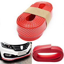 M3 Style Urethane 3D Carbon Dipping Print Bumper Universal Red DJC A