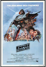 THE EMPIRE STRIKES BACK original 1980 27x41 one sheet movie poster STYLE B