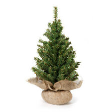 Darice Artificial Canadian Pine Tree with Burlap Base 24 inch Tabletop 148 tips
