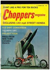 CHOPPERS MAGAZINE JANUARY 1973 70's STYLE CUSTOM BIG BIKE STREET CHOPPERS