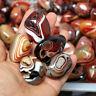 Natural Madagascar Banded Agate Stone Specimen Tumbled Pattern Craft Gift