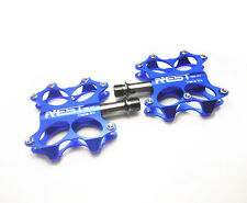 MTB Bike TRUVELO Bicycle Titanium Spindle Pedals Ti Axle Pedals Ultra light Blue