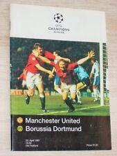 MANCHESTER UNITED - BORUSSIA DORTMUND Champ.League Progr.1997 Halbfinale Rarität