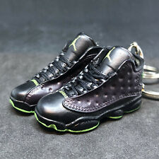 8b0b4ba63431 Pair Air Jordan XIII 13 Retro Altitude Black Sneaker 3D Keychain Figure+Shoe  Box