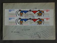 DDR MEF MiNr 1596/7 Zdr Pioniere Viererblock, R-Brief Ottendorf-Okrilla 15.12.70
