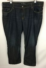 Silver Jeans Suki Straight Med/Dark Distressed Wash Size 24