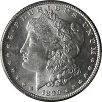 1890-P Morgan Silver Dollar PCGS MS63 Bright White Nice Eye Appeal Nice Strike
