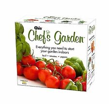 New CHIA Chef's Garden to start your garden indoors basil , tomatoes, pepers