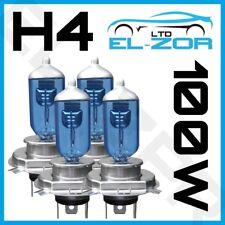 4 X H4 472 Xenon Super White 100w Doble Twin Pack Set Faros Faro Bombillas