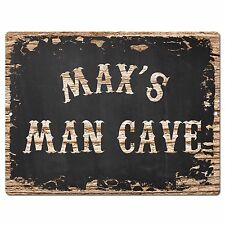 PP2989 MAX'S MAN CAVE Plate Chic Sign Birthday Father's Day Decor Gift