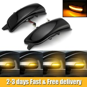 For Volvo S80 2007-2013 Dynamic Turn Signal Lights Side Mirror Indicator Lamp AP