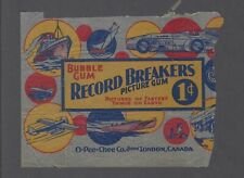 1933 O-Pee-Chee V139 Record Breakers Wrapper