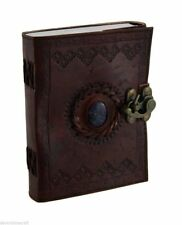 5 Pcs Handmade vintage Embossed Leather With Stone Journal with Clasp diary