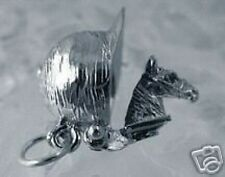 LOOK 2386 Jockey hat Open Horse back riding Charm Silver