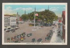 [42986] OLD POSTCARD showing old automobiles at CENTRAL SQUARE, KEENE, N. H.