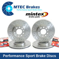 Mazda RX8 323mm Front & Rear Drilled Grooved MTEC Brake Discs & Mintex Pads