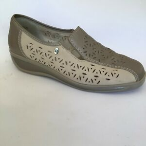 ara soft Luftpolster beige cut out leather comfort shoes size US 8 EUR 38.5