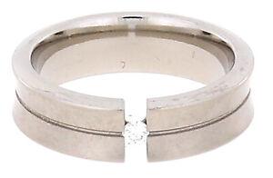 Gloria Star Titan Ring mit einem Brillianten Ringgröße 54 (17,20 mm ø)