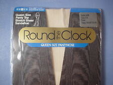 Round the Clock Style 600 Stretch Sheer Panty Top Pantyhose Size 2X in Bone