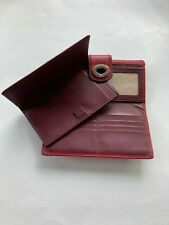 Coach Turnlock Wallet & Matching Checkbook Cover Vintage Folding Red Leather
