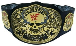 WWF World Heavyweight Championship Smoking Skull Stone Cold Title Belt Adult 2mm