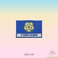 YORKSHIRE UK County Flag With Name Embroidered Iron On Patch Sew On Badge