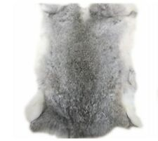 100% Genuine Gray Rabbit Fur Tanned Skin Color Natural Fur Crafts Decoration