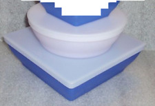 Tupperware Zen Serving Dishes AKA Get Togethers Blue & White Square Rounds New