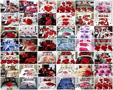 3D Effect 4 Piece Bedding Complete Set (Quilt Cover,Fitted Sheet & Pillow cases)