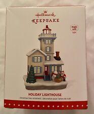 Hallmark Keepsake 2015 Holiday Lighthouse Ornament Perfect Condition In Box