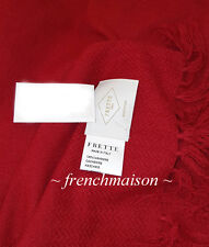 FRETTE ITALIAN Luxury 100% CASHMERE Red Shawl Scarf Wrap Throw Purchased Italy