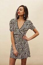 Topshop  Animal Print Mini Wrap Dress Size 14