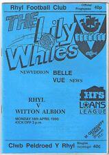 Rhyl v Witton Albion 1989/90