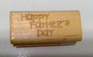 Happy Father's Day Rubber Stamp - NEW
