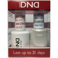 DND Daisy Soak Off Gel Polish Top Coat & Base Coat full size 15ml LED/UV gel duo