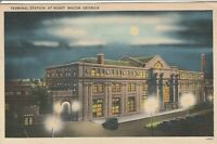 (Z)  Macon, GA - Bird's Eye View of Terminal Station at Night