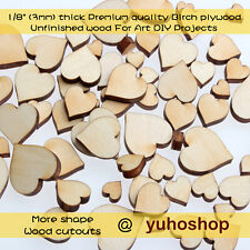 50pcs Poker Heart Shape Mini Mixed Small Wooden piece Scrapbook Craft Card DIY
