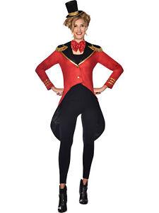 Adults Ringmaster Woman Fancy Dress Costume Jacket Big Top Circus Sexy Ladies