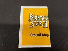 Phantasy Star II Sega Genesis Ground Map  INSERT ONLY INVT