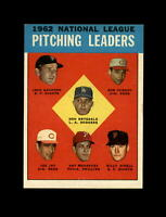 1963 Topps #7 Pitching Leaders (Don Drysdale Sanford Jay O'Dell Purkey) NM