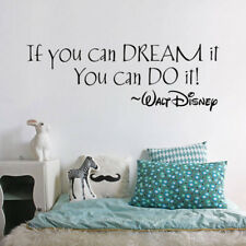 If you can dream it You can do it Wall Sticker Inspiring Encouragement Home Deco