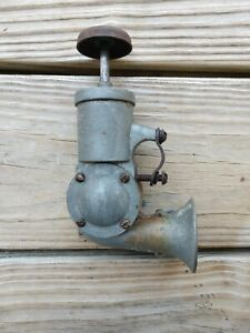ANTIQUE BICYCLE HORN Plunger Klaxon w/ leather gasket