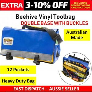 BEEHIVE DOUBLE BASE TOOLBAG Australian Made Water Resistant Tool Carrier Holder