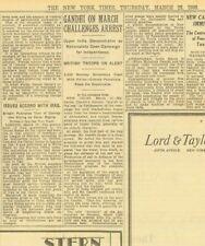 Gandhi Starts Salt March Challenges Arrest Jalalpur Self Rule March 13 1930
