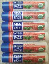 Kiss My Face Lip Balm, Strawberry Organic Vegan  , 0.15 Ounce 6 Tubes