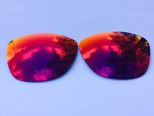 Grabado Polarizado Rojo Fuego espejadas Lentes de repuesto OAKLEY JUPITER