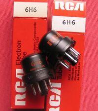2x TUBE 6H6 RCA NOS-NIB (LAMPE VALVE RÖHRE VALVOLA VALVUOLA) ! 100% NEUF - NEW !