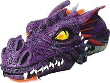 """Dragon Head Stick Cone Incense Holder Burner 11"""" L Purple"""