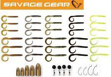 Savage Gear Rib Worm Kit (47 Teile), Kunstköder zum Spinnfischen, Drop Shot Set