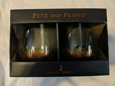 Fitz and Floyd stemless goblets